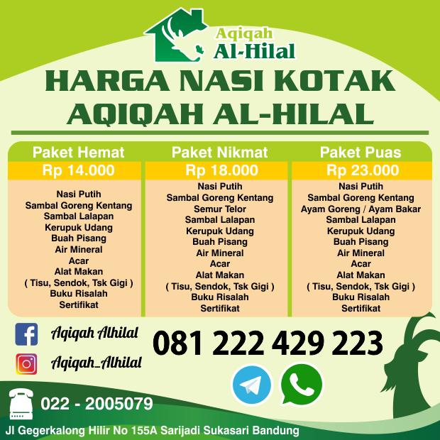 Paket Nasi Kotak Aqiqah Cimahi Bandung